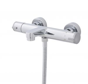 Round Thermostatic Bath Shower Mixer Shower Valve Exposed